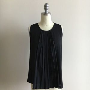 French Connection black pleated top